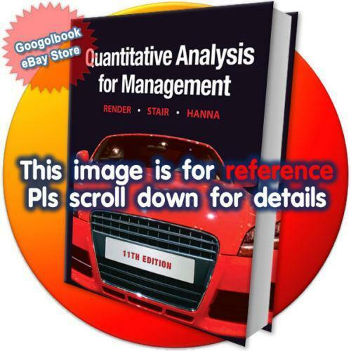 Quantitative analysis for management books ebay fandeluxe