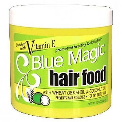 Blue Magic Vitamin E Hair Food for dry hair with Wheat Germ & Coconut Oil 12oz