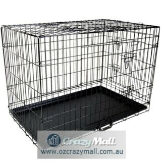 Metal Dog Cage Crate Collapsible Portable 24-48 Inch All Size