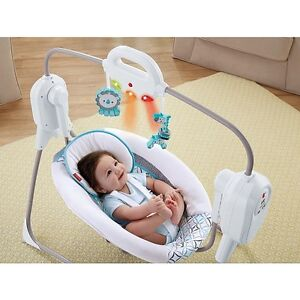 Fisher Price Twinkling Lights SpaceSaver Cradle Swing BRAND NEW