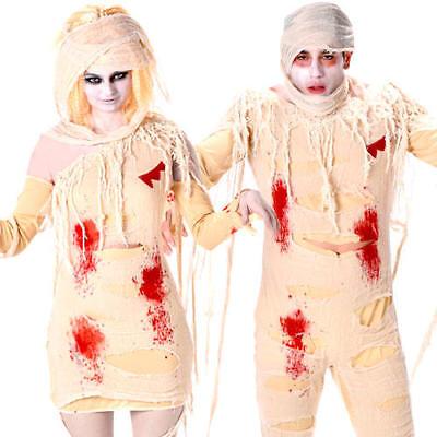 Zombie Mummy Adults Halloween Fancy Dress Gorey Undead Egyptian Horror - Egyptian Mummy Halloween Costumes