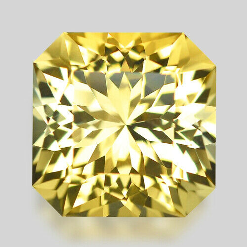 7.97cts EXQUISITE CUSTOM RADIANT CUT NATURAL RICH YELLOW SCAPOLITE WATCH VIDEO