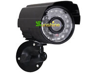 HD CMOS Color 700TVL 24 LED Nightvision Indoor/Outdoor Waterproof IR