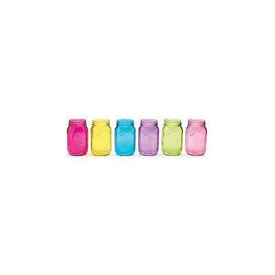 Quart Size Assorted Pastel Colored Mason Jars - Set of 6