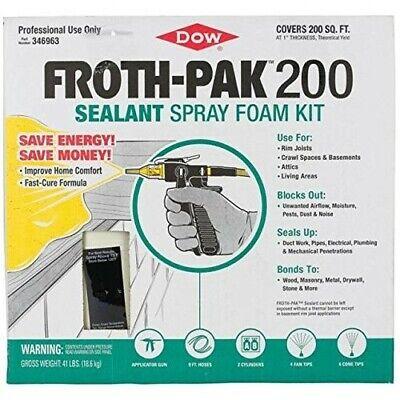 Dow 346963 Froth-pak 200 Bf Expanding Spray Foam Insulation Energy Sealant Kit