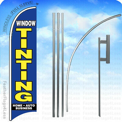 Window Tinting - Windless Swooper Flag 15 Kit Feather Banner Sign - Bb