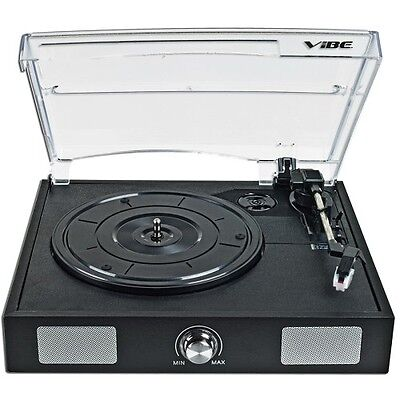 VIBE Sound USB Turntable/Vinyl to MP3 Audio Record Player w/Built-in Speakers on Rummage