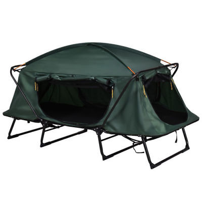 Single 1 Person Folding Camping Waterproof Tent Cot Bed Raised Mat Hiking Bag for sale  Shipping to Canada