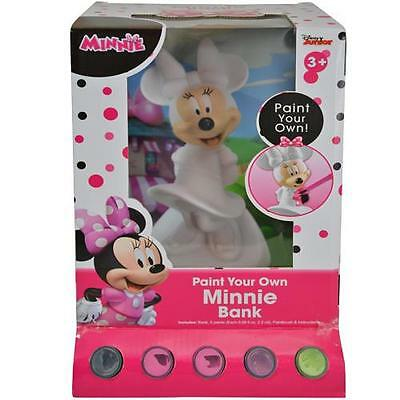 Disney Minnie Mouse Paint Your Own Money Coin Bank