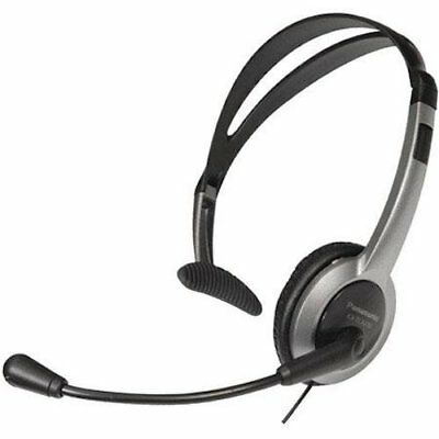 Panasonic KX-TCA430 Comfort-Fit, Foldable Headset Black/Gray