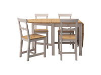 dinner table GAMBLEBY and four chairs IVAR, IKEA