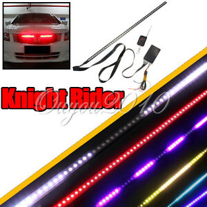 Waterproof-7-Color-56cm-48-LED-RGB-Flash-Car-Strobe-Knight-Rider-Light-Strip-Kit