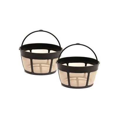 12 Cup Gold Tone Filter - 2 Pack for Cuisinart GTF-B Gold Tone Coffee Filter 8-12 Cup Permanent Basket
