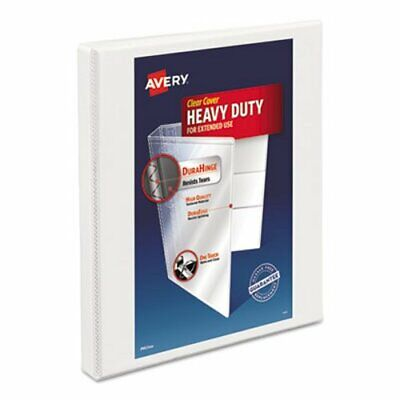 Avery Nonstick Heavy-duty Ez-turn Ring Binder 12 Capacity White Ave05234