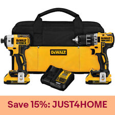DeWALT DCK283D2R XR Brushless Compact Drill and Impact Driver Combo Kit, Recon