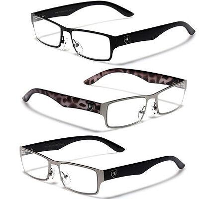 UV400 Clear Lens Men's Sunglasses Optical RX Prescription Frames Eye-Glasses (Prescription Sunglasses For Men)
