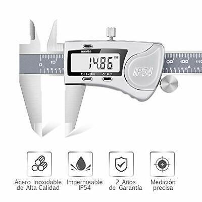 Pie de Rey Digital Calibre Digital Profesional, Pantalla Electrónica LCD