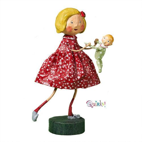 Dancing with Baby Lori Mitchell Christmas Figurine NIB Free Shipping