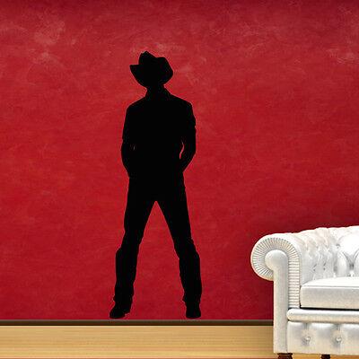 Wandtattoo Cowboy Silhouette Schatten Aufkleber Wand Tattoo Wall Art #2139