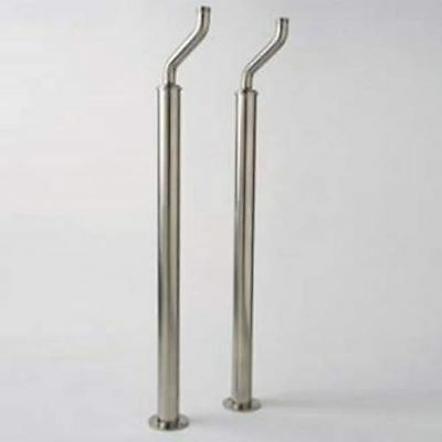 - Rohl Perrin & Rowe  U.6388 STN   Pair of Floor Supply Unions for Exposed Tub