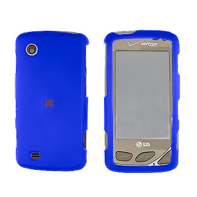 Blue Snap-On Hard Case Cover for LG Chocolate Touch - Cover Blue Snap