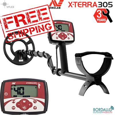 """Minelab X-Terra 305 Metal Detector 9"""" Coil, Waterproof"""