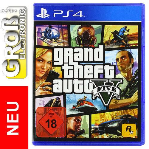 Grand Theft Auto V GTA 5 PS4 Playstation 4 18 DE USK 18 Deutsche Version NEU OVP