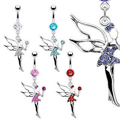 B#214 - 5pcs Fairy Gem Belly Rings Navel naval