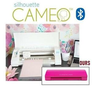 NEW SILHOUETTE CAMEO 3 SILHOUETTE-CAMEO-3-HTPNK-4T 252207284 WIRELESS CUTTING MACHINE DUAL CARRIAGE PINK