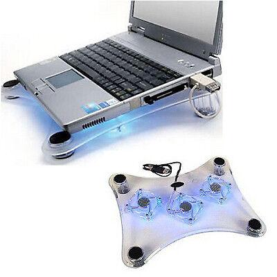 Notebook Laptop Kühler Cooler Cool-Pad Halterung Lüfter Ständer 10 - 15 Zoll Top