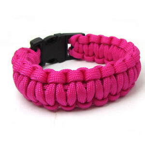 550 Paracord Outdoor Survival Rope Escape Emergency Wristband SC