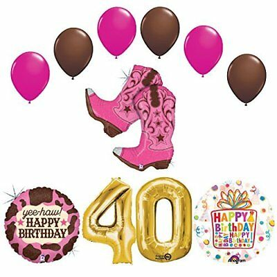 Wild West Cowgirl Boots Western 40th Birthday Party Supplies   - Cowgirl Birthday Supplies