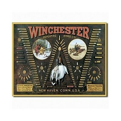 Vintage Retro Tin Sign Winchester Repeating Arms Tin Sign Mancave Hunting Lodge