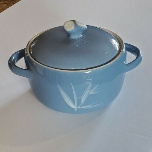 Vintage Winfield China: Blue Bowl with Lid, Porcelain