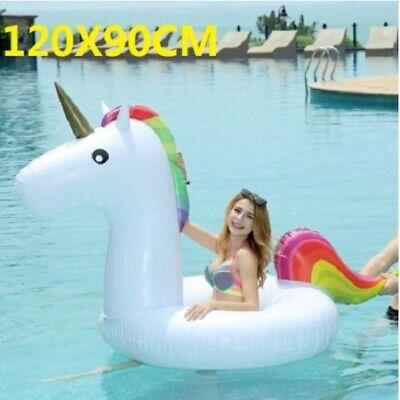 Flotador Unicornio hinchable para Piscina playa Colchon colchoneta 120CM