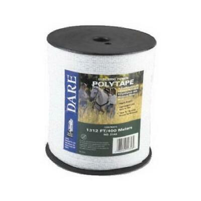 Electric Fence Tape White Poly Amp 5-wire Stainless Steel .5-in. X 1312-ft.