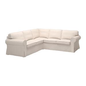about ikea ektorp 2 2 corner sofa cover slipcover lofallet beige new