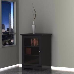 Nexera 101706 Pinnacle 1-Door Audio Tower BLACK NEW