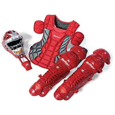Fastpitch Catchers Gear - Varsity Fast Pitch Catcher's Gear Pack in SCARLET RED (Ages 14+)