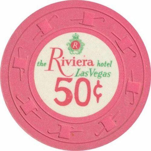 Riviera Casino Las Vegas NV 50 Cent Chip 1971