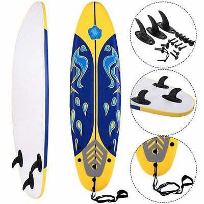 New Yellow 6' Surfboard Surf Foamie Boards Surfing Beach Ocean Body Boarding