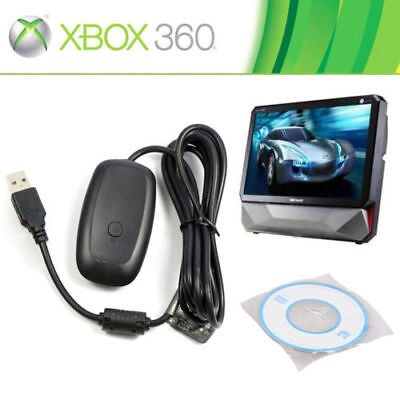 Microsoft Xbox 360 USB Wireless Receiver Game Controller Adapter for Windows PC (360 Controller Pc Adapter)