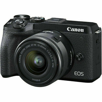 New Canon EOS M6 Mark II Digital Camera w/ 15-45mm f/3.5-6.3 IS STM Lens Black