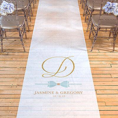 Glitz and Glam PERSONALIZED Aisle Runner Wedding Ceremony Decoration  (Personalized Wedding Aisle Runner)