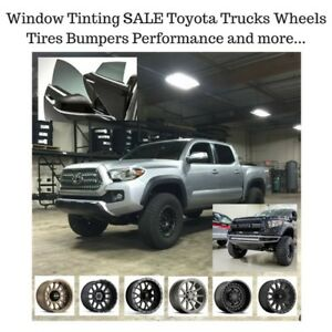 Toyota Tacoma Tundra Window tinting Wheels Tires Bumpers