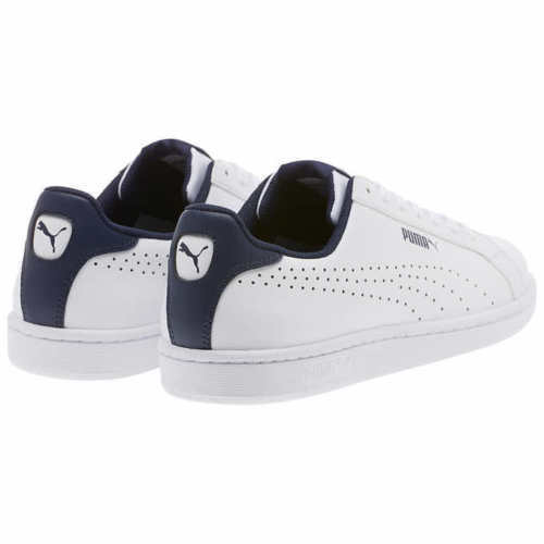 3718a9f0241d NEW PUMA Mens Leather Sneakers Smash Perf C Athletic Tennis Shoe White Pk  Size