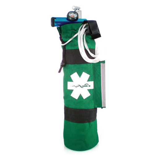 LINE2design Oxygen Sleeve EMS Medical Rescue Cylinder Bag with Side Pocket Green