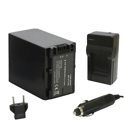 NP-FV100 Battery w/Charger for Sony Handycam NEW