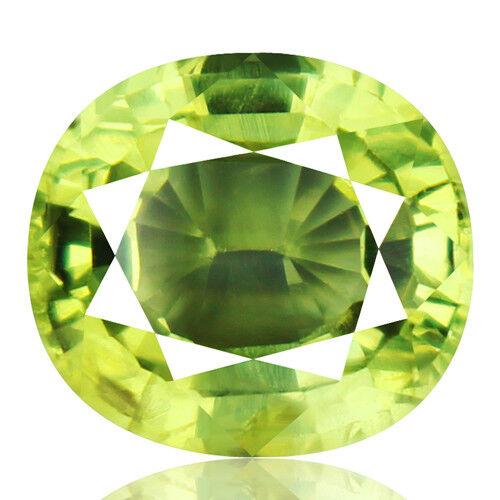Tsavorite Family Garnet 4.44ct yellowish green color 100% natural earth mined