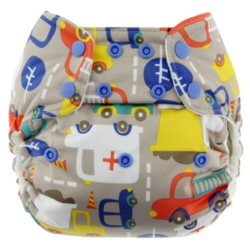 Blueberry One Size Deluxe Snap Pocket Diapers